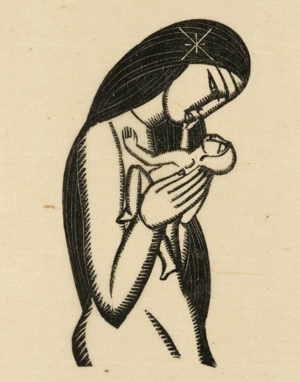 Madonna and Child 1925 by Eric Gill 1882-1940