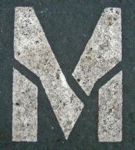 M stencil