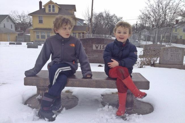 boys graveyard bench
