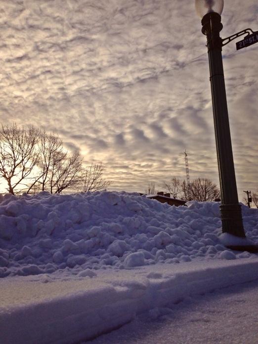 snow bank sky